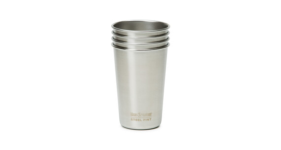 Klean Kanteen Pint Cup 473ml 4er Pack brushed stainless